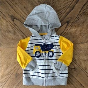 NWOT Carter's Baby Boy Zip-Up Hoodie